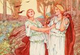 デーメーテルとペルセポネー母子