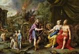 冥界のハーデースとペルセポネーとオルフェウス