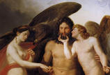 エロースとプシュケの結婚を祝うゼウス