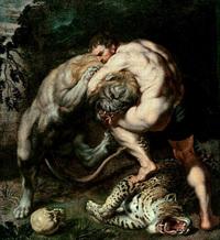 獅子座:ヘラクレスに退治されるネメアの獅子