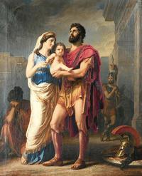 第六歌後編:ヘクトルと妻アンドロマケとの別れ