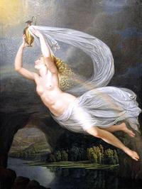 虹の女神イーリスとステュクス河の水