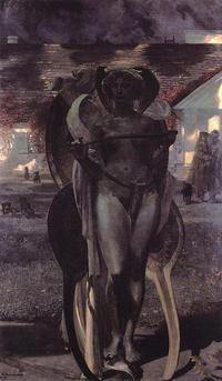 夜の女神ニュクスの息子、死の神タナトス