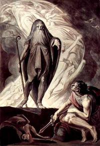 冥界にて、オデュッセウスとテイレシアス