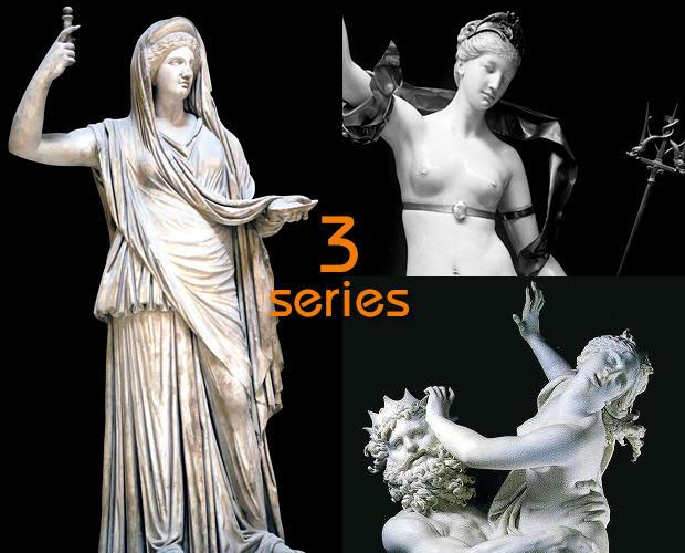三界の妃ヘーラー、アムピトリーテー、ペルセポネー