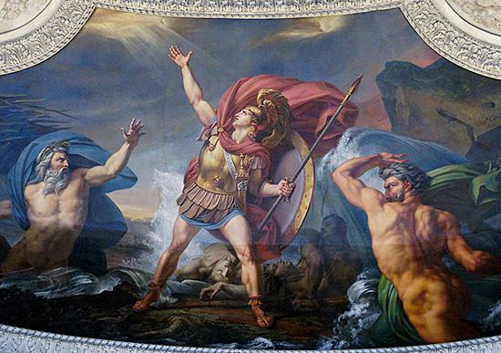 アキレウス、クサントス河神とシモエイス河神