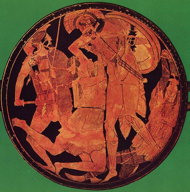 アキレウスに殺されるペンテシレイア