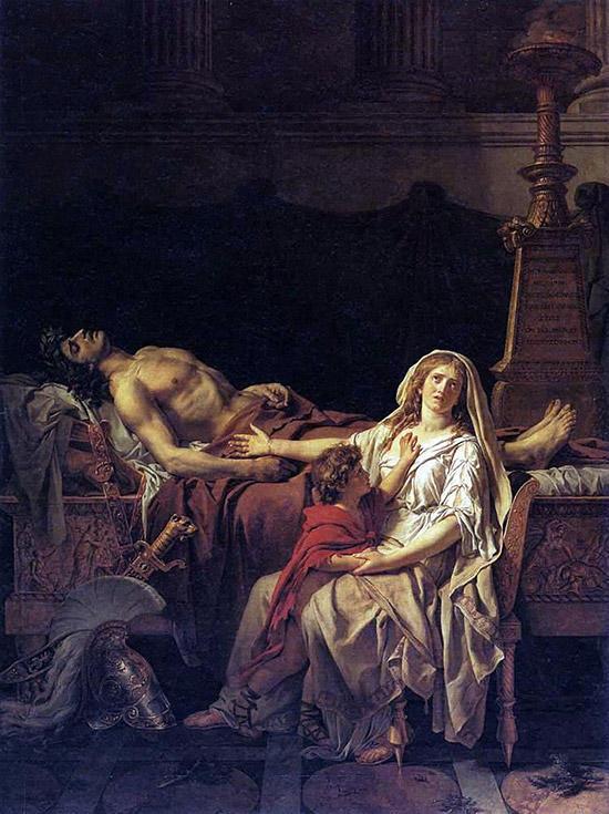 アンドロマケ、ヘクトルを悼む