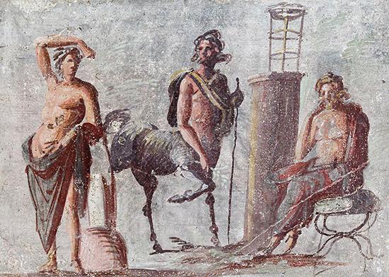 アポローン、ケイローン、アスクレーピオス