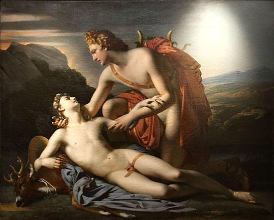 アポロン神とキュパリッソス