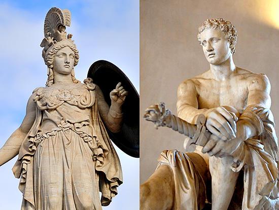 アテナとアレス