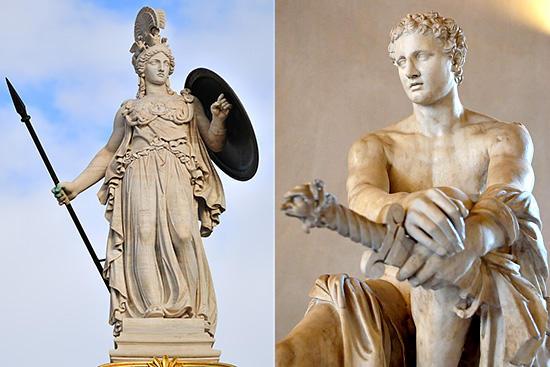 アテネとアレス