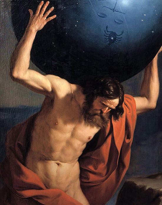 天球を支えるアトラス