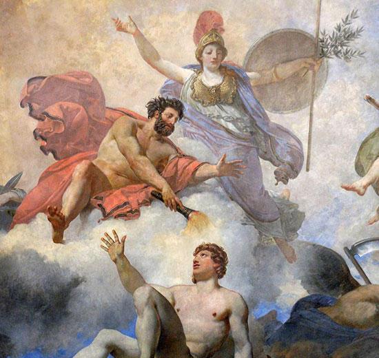 アテーナのもとプロメテウスの人の創造