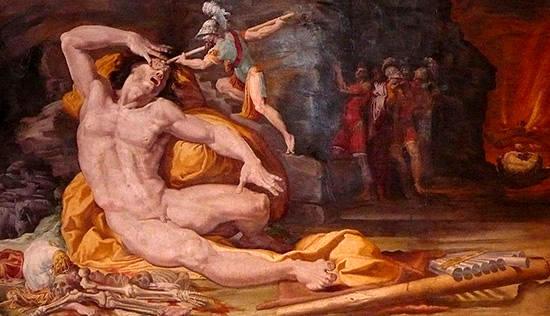 ポリュペモスに対するオデュッセウス
