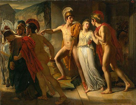ヘレネーを助けるディオスクーロイ(カストールとポリュデウケース)