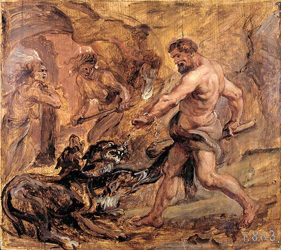 ヘラクレスとケルベロス