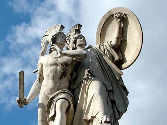 ベルリン王宮橋のディオメデスとアテネ