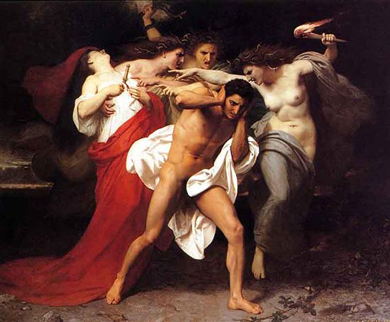 復譬の女神に追跡されるオレステスまたはオレステスの自責