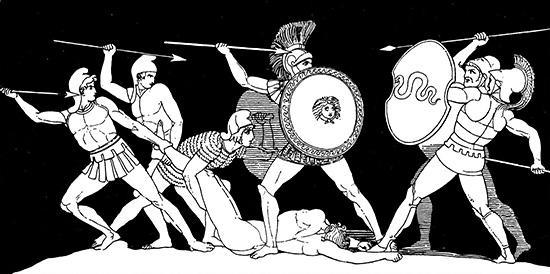 パトロクロスの遺体をめぐる戦い