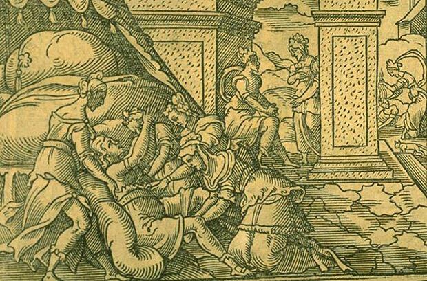 ヘラクレスの出産、ガランティス