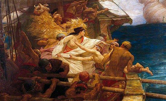 黄金の羊毛:弟を海に投げるメーデイア
