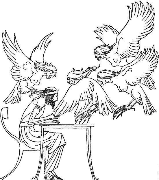 ピーネウスとハルピュイア