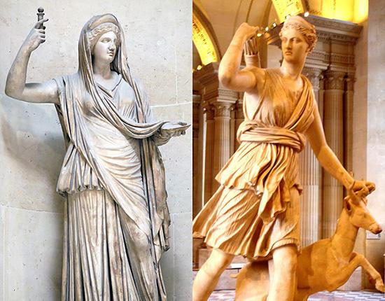 ヘラとアルテミス
