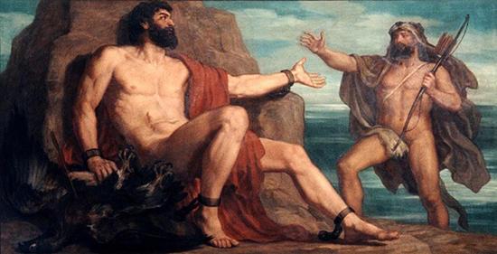 プロメテウスを解放するヘラクレス