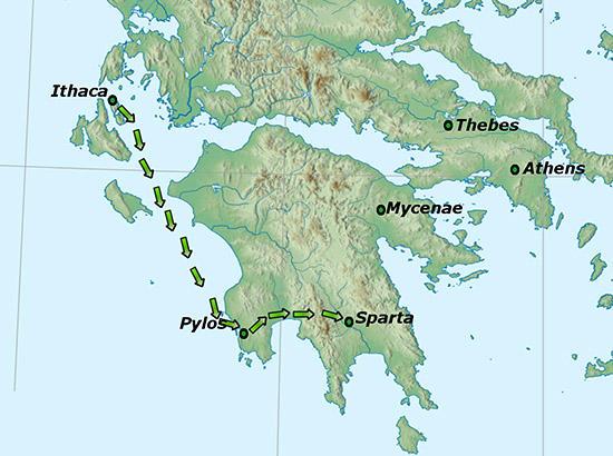 テレマコスのルート