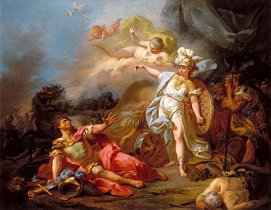 軍神アレスと戦略の神アテネ