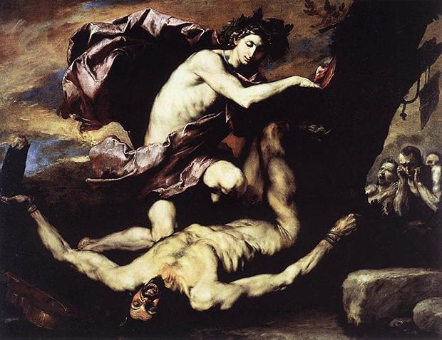 マルシュアスの皮を剥ぐアポローン