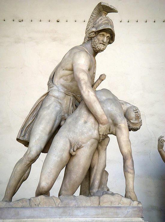 メネラオスとパトロクロス