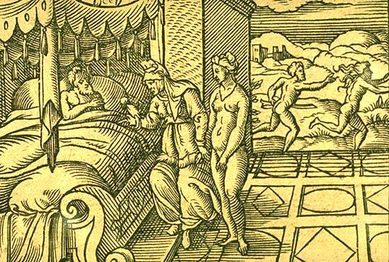 娘ミュラと父親キュニラス王