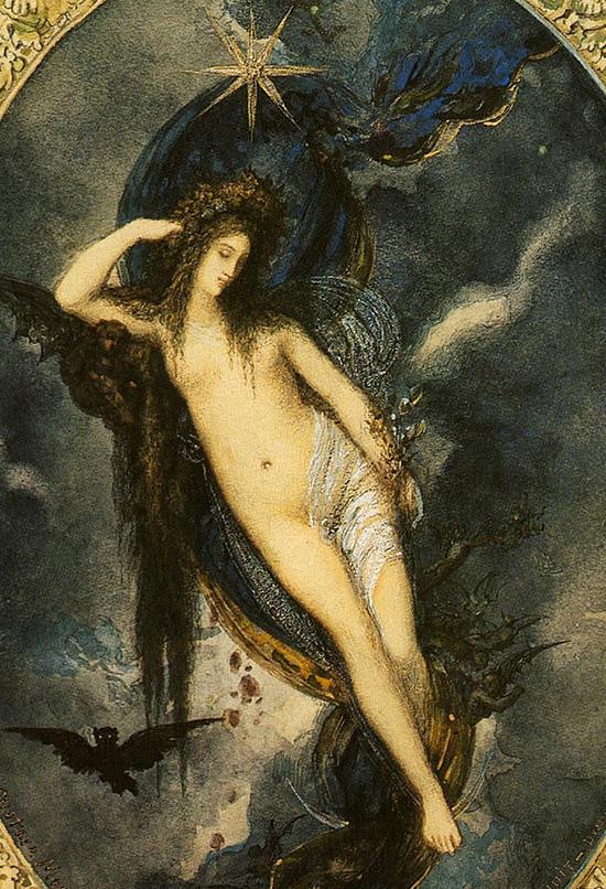 夜の女神(モロー)
