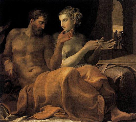 オデュッセウスとペネロペイア