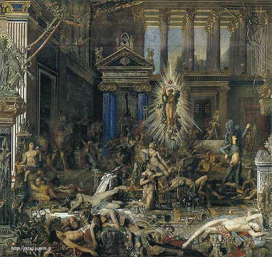 オデュッセウスが求婚者達を倒す