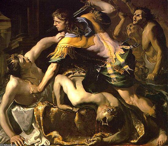メイ「オレステス、母親とアイギストを殺す」