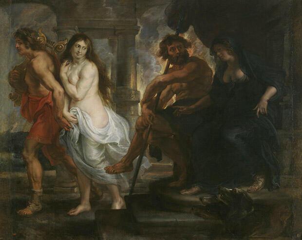 オルフェウスとエウリュディケー、冥界の王ハーデース夫妻