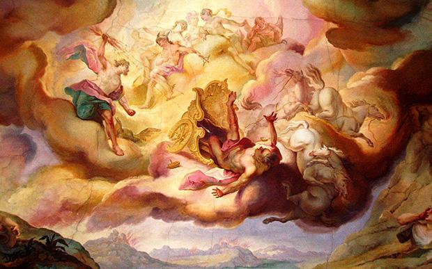 フェートンの秋、天井画