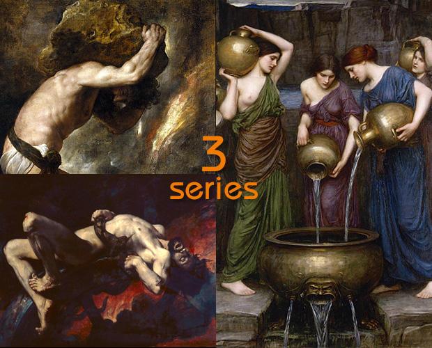 シーシュポス、イクシオン、ダナオスの娘たち