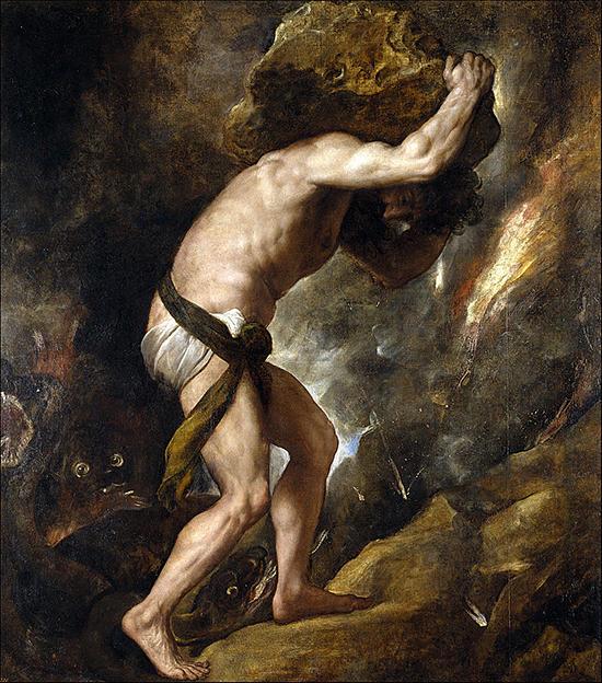 ティツィアーノ「シーシュポスの罰」