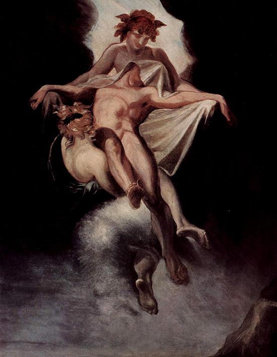 サルペドンの遺体を運ぶタナトスとヒュプノス