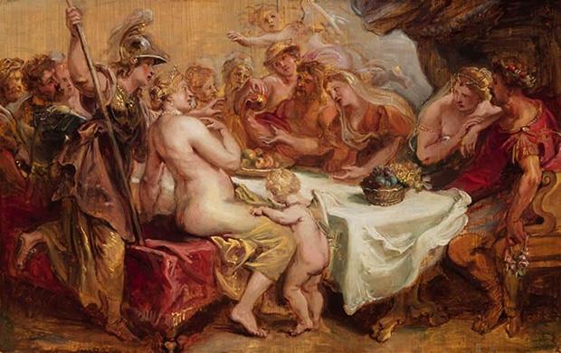 ペーレウスとテティスの結婚式(黄金のリンゴ)