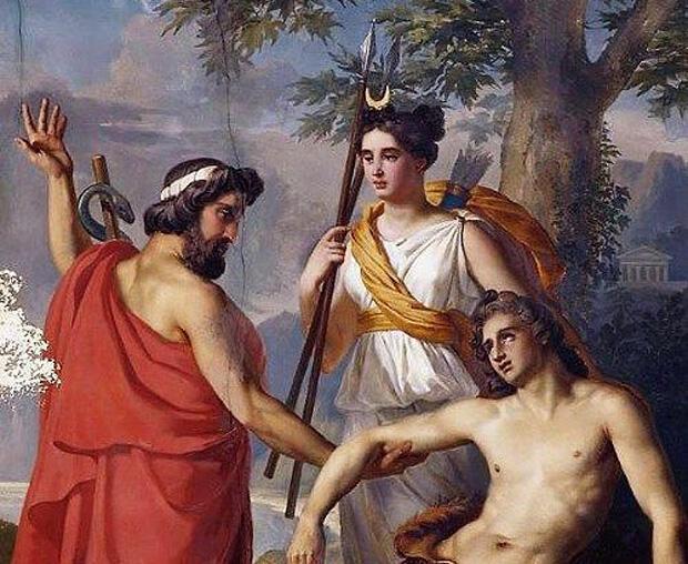 テセウス、アルテミス、ヒッポリュトス