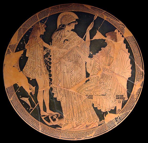 アムピトリーテー、アテーナとテーセウス