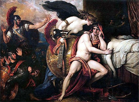 テティス、アキレウスに武具を届ける