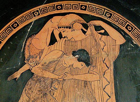 ペーレウスに奪われるテティス