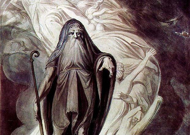 冥界の予言者テイレシアス(オデュッセイアより)