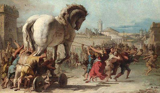 トロイアの木馬の行進